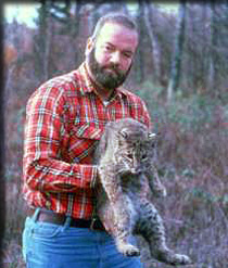 Dr. Rainer Brocke with bobcat