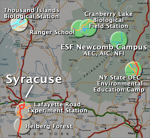 Suny Esf Campus Map.Esf Campuses About Suny Esf