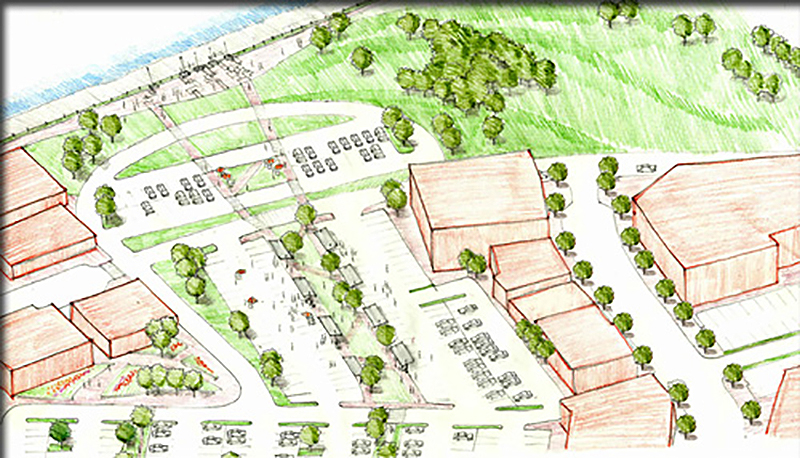 North Side riverfront revitalization sketch