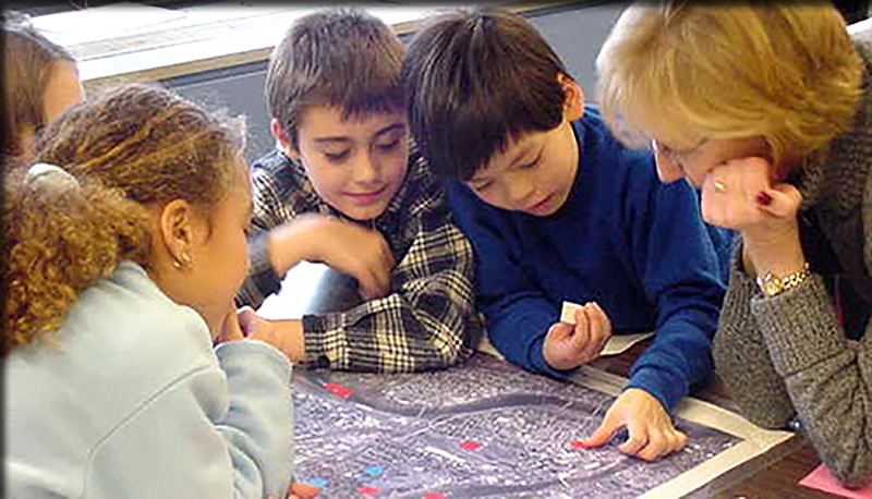 Children learning about the plan