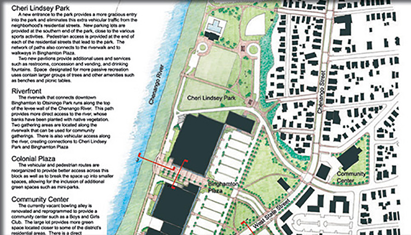 map of the riverfront