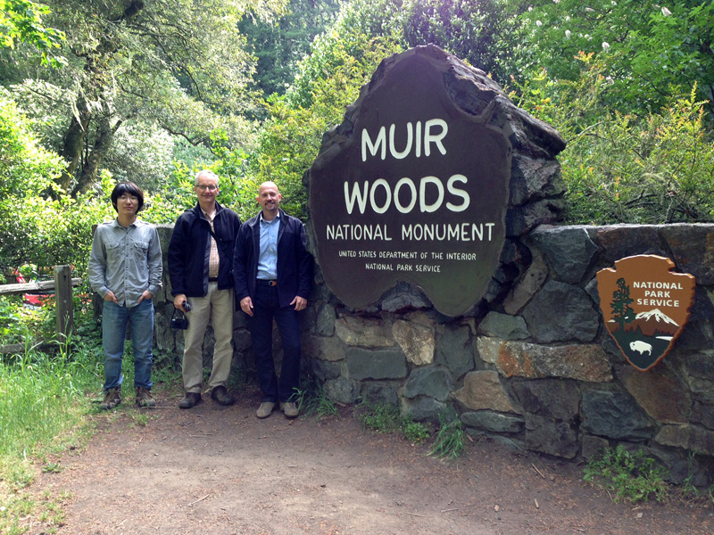 CCLP Research Assistant Haichao Wang with CCLP Co-Director John Auwaerter and NPS Olmsted Center Director Bob Page