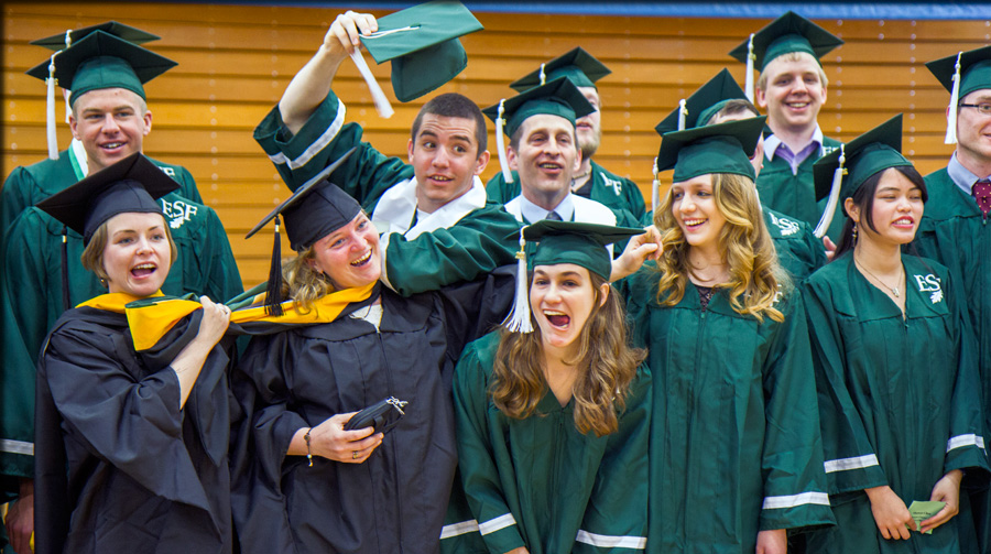 goofy photo of graduating studetns