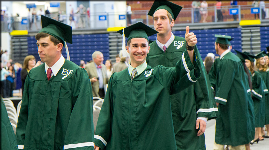 graduate with thumb up