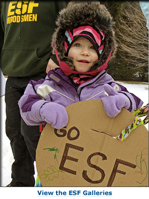 little girl with e s f sign