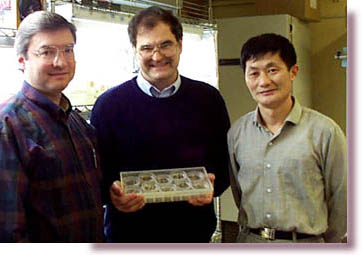 photo of William A. Powell, Charles A. Maynard, and Zizhou Xing