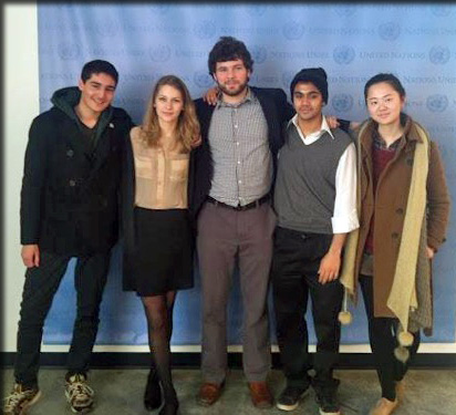 From left to right: Rigo Melgar (ESF), Rina Kuusipalo (Harvard), Reed Thompson, Anirudh Sridar (ESF) & Yi Wang