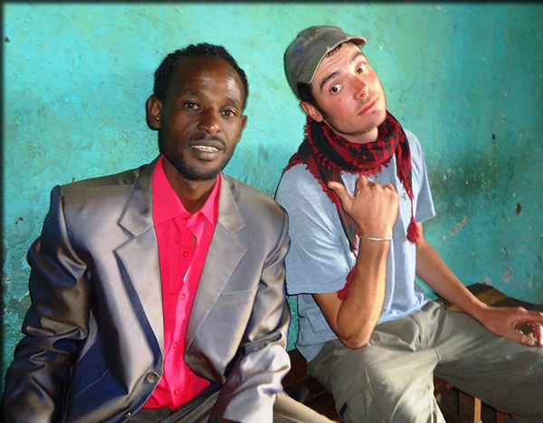 ESF alumnus Matt Thornton, right, who is an environmental volunteer in Ethiopia, and his good friend, Ayuba
