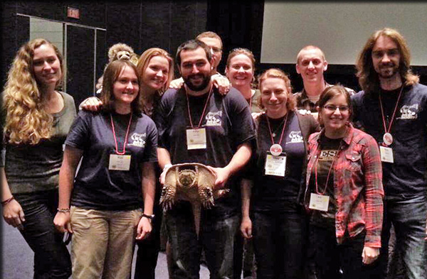 ESF alumni and students join the members of the successful Quiz Bowl team