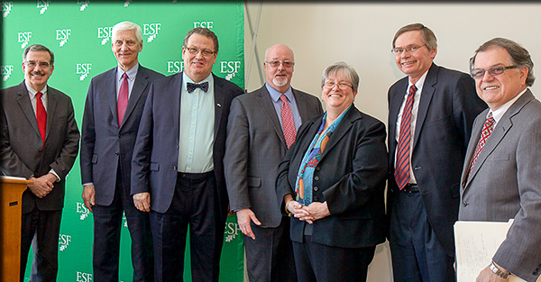 From left: Dr. Erik Bitterbaum, Dr. Gregory Eastwood, Dr. Quentin Wheeler, Dr. John McCabe, Dr. Casey Crabill, Mr. David Manciewicz, Dr. William Murabito