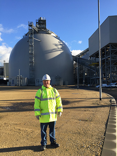 While in the U.K., Robert Malmsheimer had the opportunity to tour the Drax power plant.