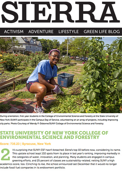 Sophomore Kiera Hyacinthe is featured in the Sierra Club