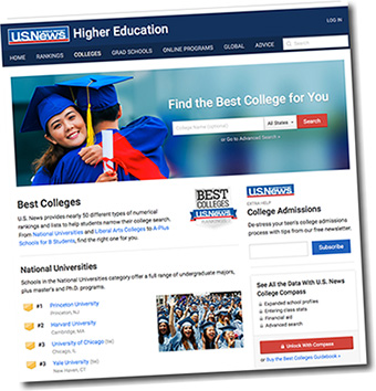 u.s. news Education Website