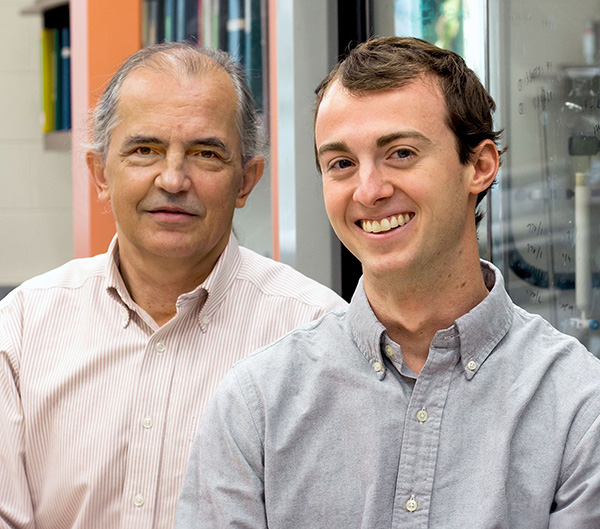 Dr. Jose Giner and undergraduate Mike Jorgensen