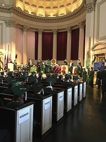 Commencement in Hendricks Chapel