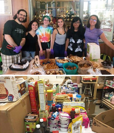 Fund-raising bake sale (top), donations collected for Dominica (bottom)
