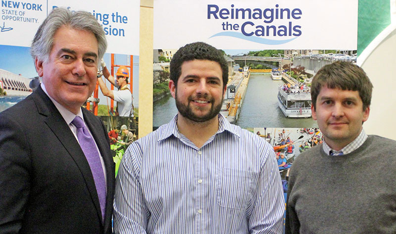 From left: N.Y. Assemblyman Al Stirpe; Michael Frateschi, an engineer with C&S Companies, and Dr. Stephen Shaw of ESF