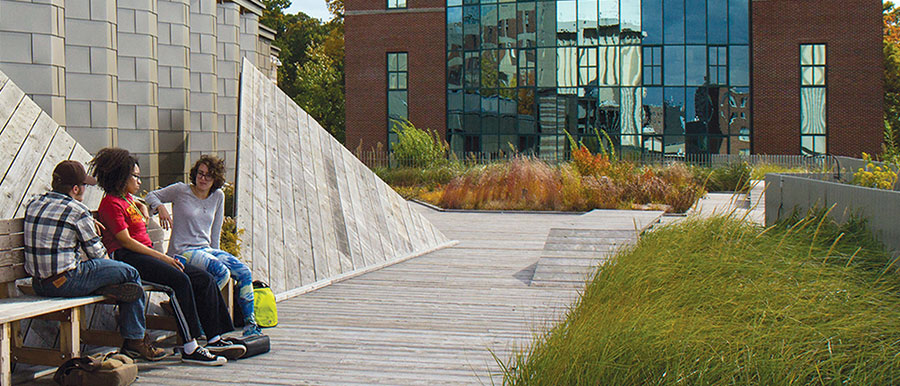 Green Roof on Gateway Center with Jahn Laboratory