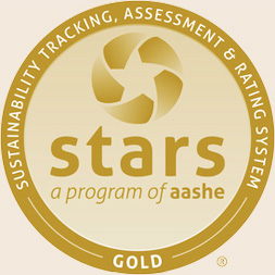 stars gold badge for sustainability