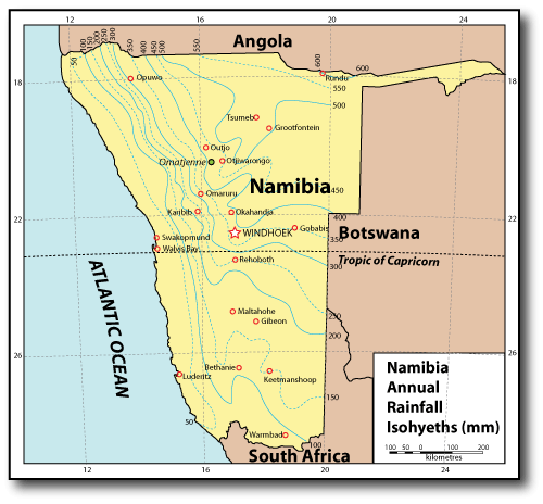 Namib Desert On Africa Map.Omatjenne