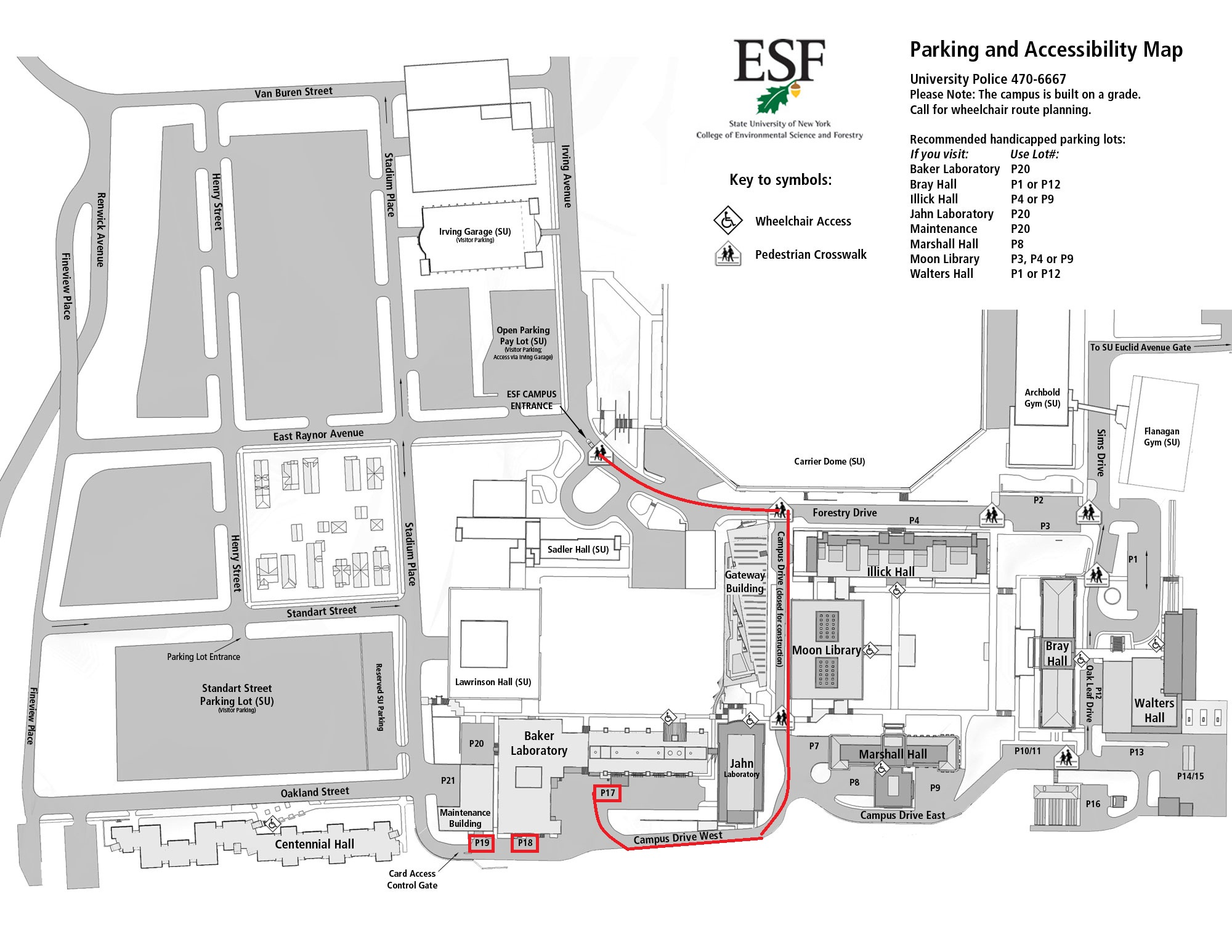 Map Of Suny Esf Www Healthgain Store