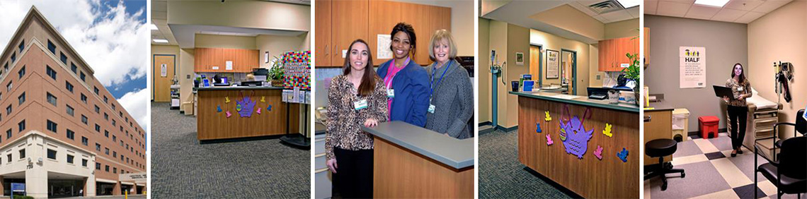 montage of images of crouse med practice offices