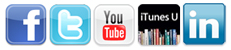 Facebook Twitter YouTube iTunes LinkedIn Icons