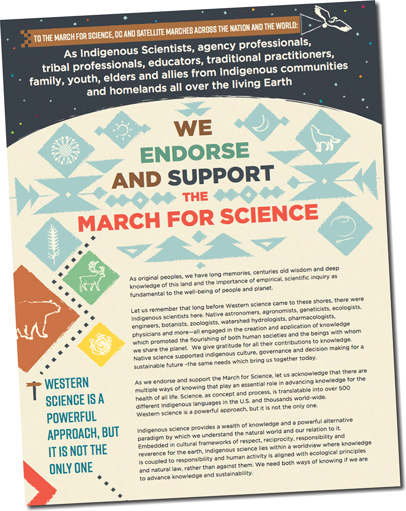Indigenous Science  March for Science Letter of Support