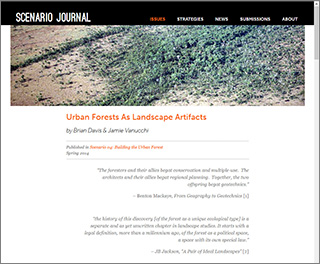 Urban forest as landscape artifacts