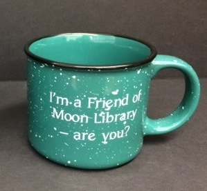 Image of FOML mug that says I'm a Friend of Moon Library - are you?
