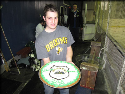 a player witha cake