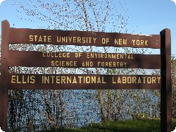 Ellis International Laboratory sign