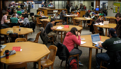 Library Packed with Students