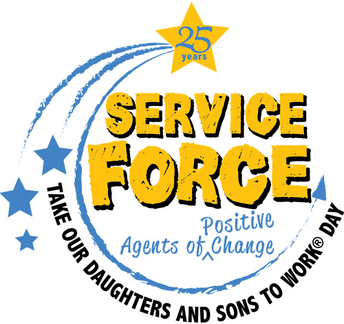 25 years, service force, positive agents of change, take our sons and daughters to work day